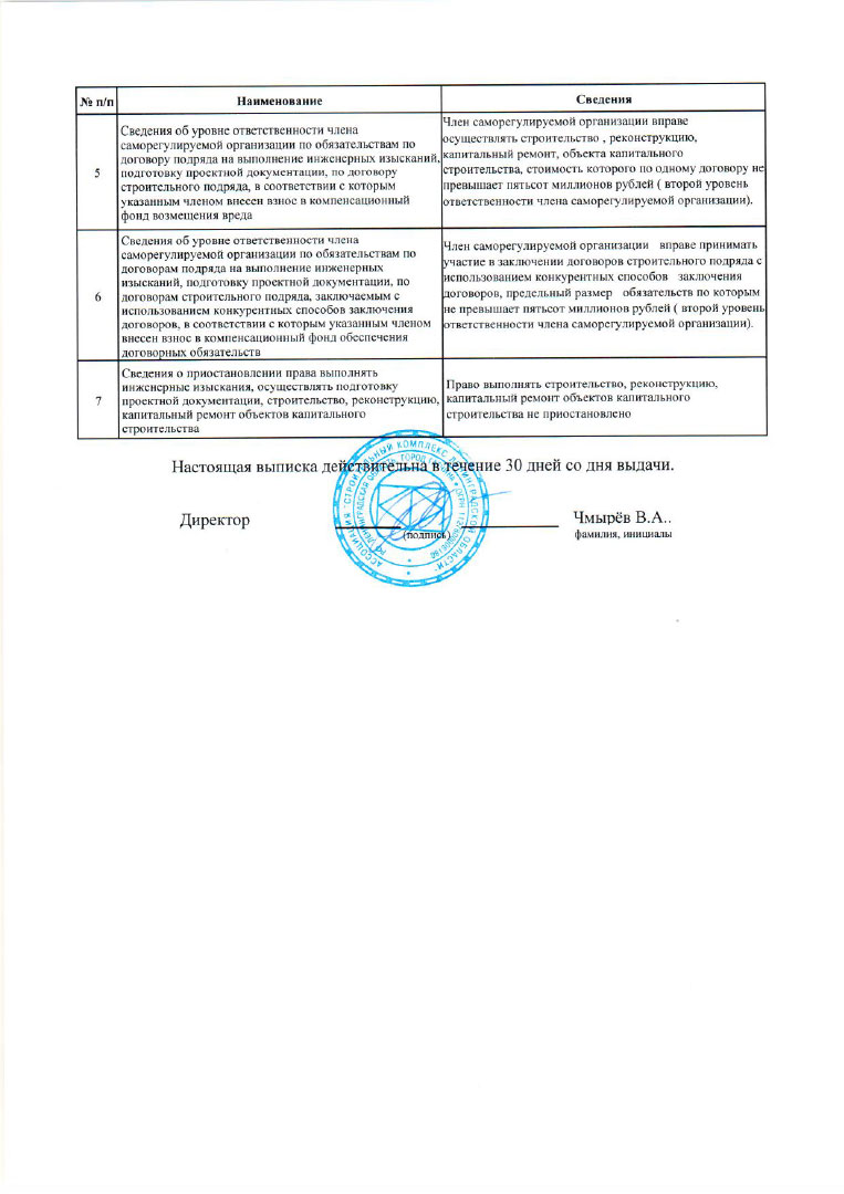 Выписка из реестра членов СРО, стр.2